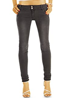 Bestyledberlin Damen Röhrenjeans, knöchellange Skinny Jeans, kurze enge Hosen, Stretch Hüftjeans j36f