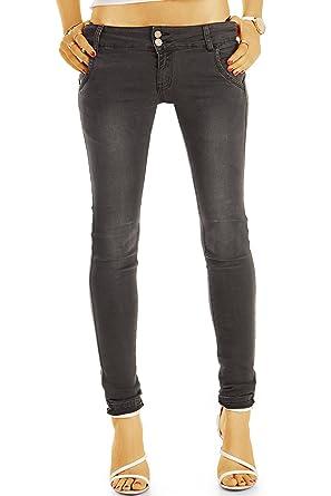 06c650c2df176e Bestyledberlin pantalon en jean femme, jean slim fit, taille basse ...