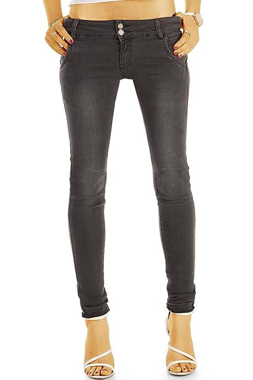 bestyledberlin Damen Jeans, Enge Skinny Fit Jeanshosen, Super Stretch Hüftjeans j14g