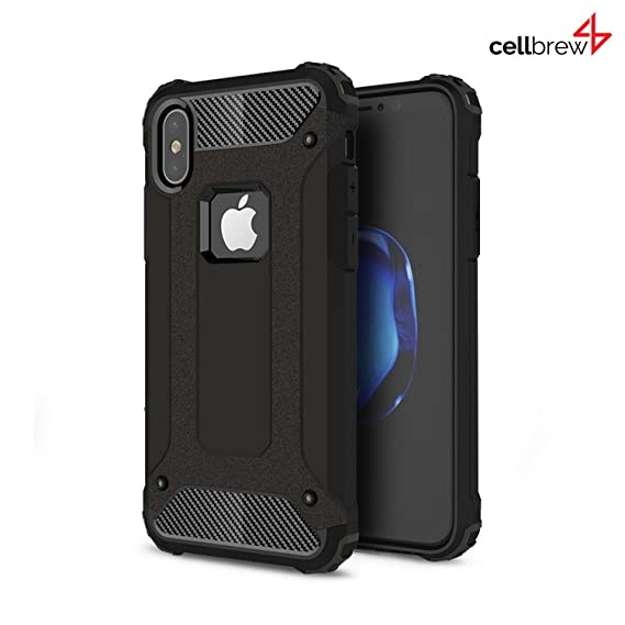 reputable site 15b58 2a889 iPhone X 2 in 1 Shockproof Case, Cellbrew - Best Dustproof Hard Back Cover  for Apple iPhone X - Impact Hybrid Scratch Protective Heavy Duty Case - Buy  ...
