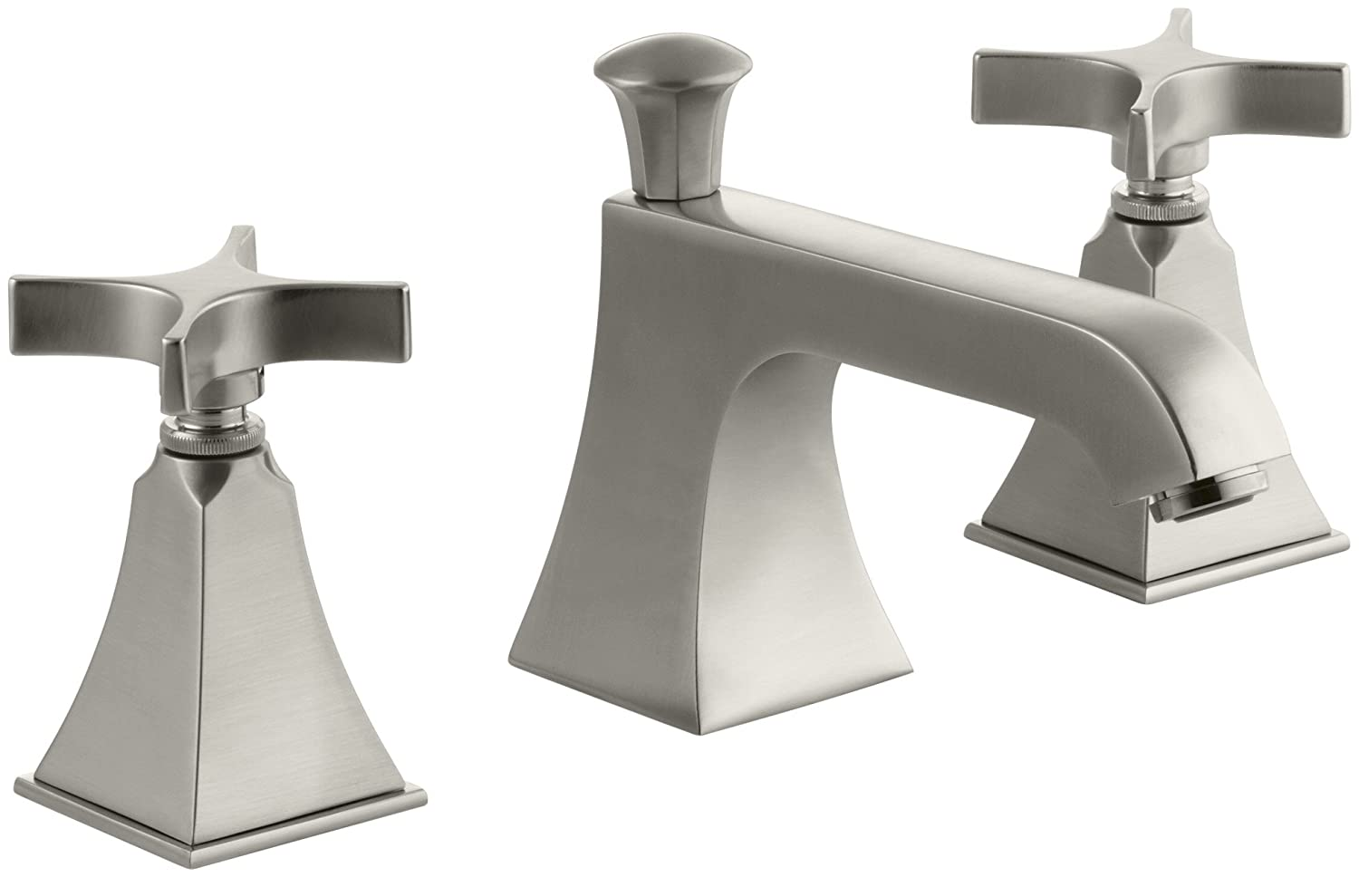 KOHLER K-454-3S-BV Memoirs Widespread Lavatory Faucet with Stately ...