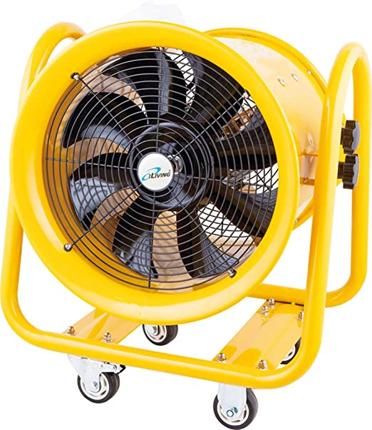 Amazon Com Iliving Ilg8vf16 Portable Exhaust Vent Fan For Home Attic Shed Or Garage Ventilation 4590 Cfm 16 Yellow Home Kitchen