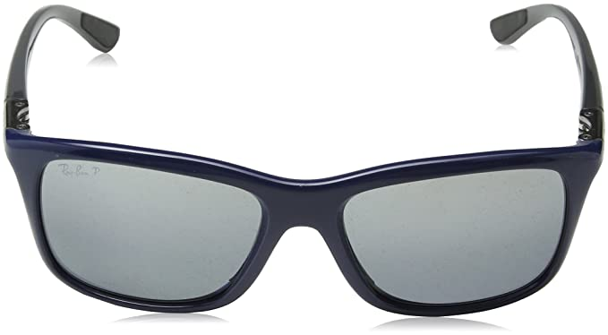 df56f23762 Amazon.com  Ray Ban RB8352 Active Lifestyle Sunglasses - 622282 Blue (Polarized  Silver Mirror Lens) - 57mm  Clothing