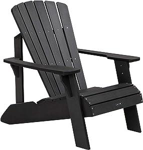 Lifetime 60284 Adirondack Chair, Black