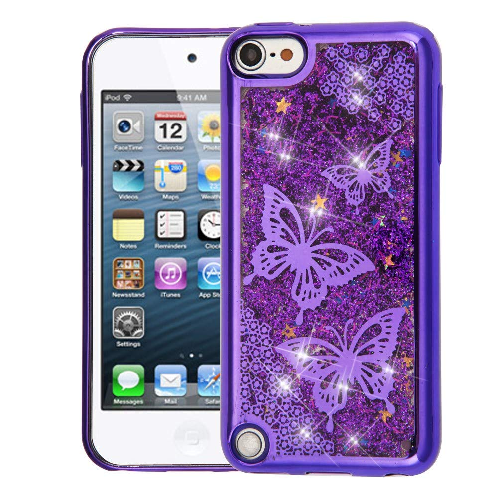 Quicksand Butterflies Purple Glitter