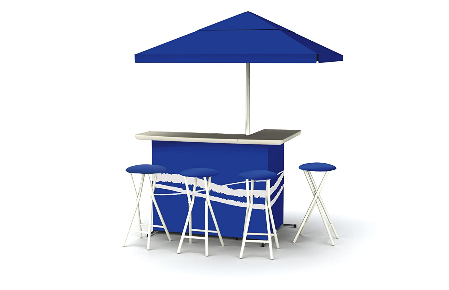 Best of Times Patio Bar and Tailgating Center Deluxe Package- Classic Blue