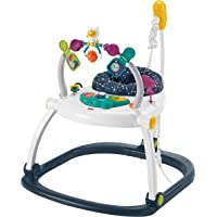 Fisher-Price Astro Kitty SpaceSaver Jumperoo, Space-Themed Infant Activity Center with Adjustable Bouncing seat, Lights…