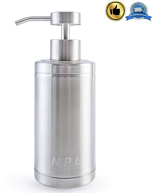NPL Soap Dispenser Countertop Pump Kitchen Bathroom 10 Oz 304L Stainless  Steel Lotion Dispenser 300ML Liquid Bottle Hand Wash Rust Proof Pump