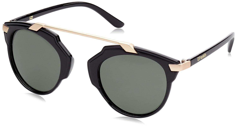 D. Franklin Dubai Gafas de Sol, Negro/Oro, 54 Unisex: Amazon ...