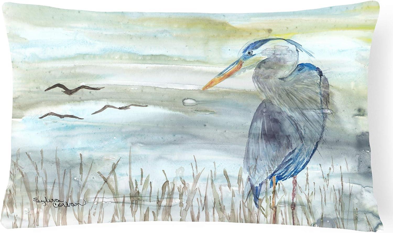 Caroline's Treasures SC2007PW1216 Blue Heron Watercolor Canvas Fabric Decorative Pillow, 12H x16W, Multicolor