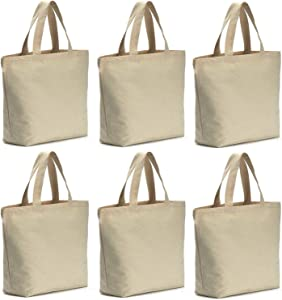 Axe Sickle 6 Pcs 12oz Canvas Tote Bag 19 X 18 X 5 inch Bottom Gusset Tote Shopping Bag, Washable Grocery Tote Bag, Craft Canvas Bag, White.
