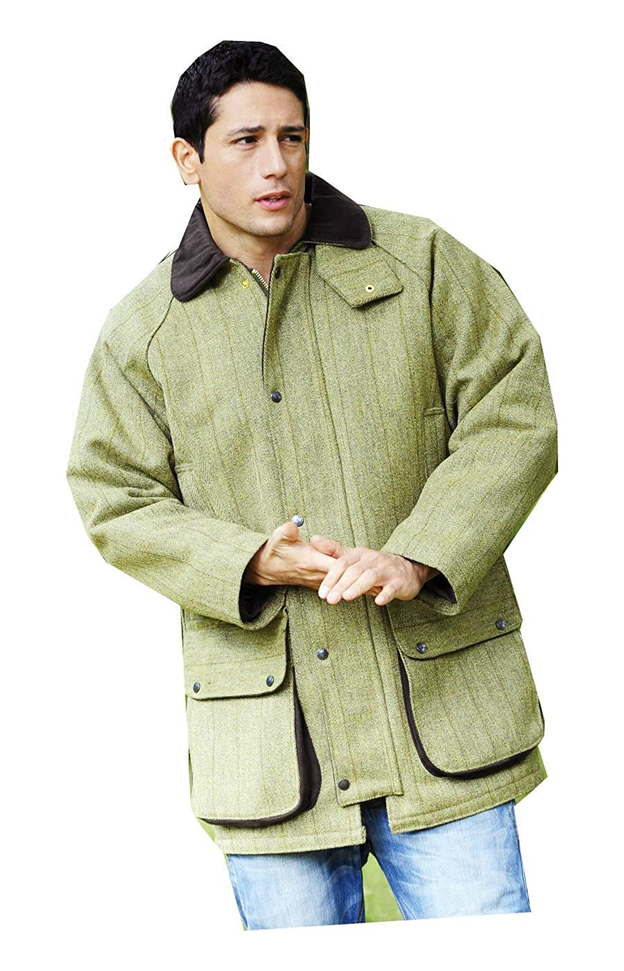 6254ac2a280ba Bronte Derby Shooting Tweed Field Coat/Jacket Classic Country Wear Clothing:  Amazon.co.uk: Clothing