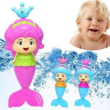 Waterproof LED Light Swimming Mermaid Doll Kid Girls Toy Bath Swimming pool New