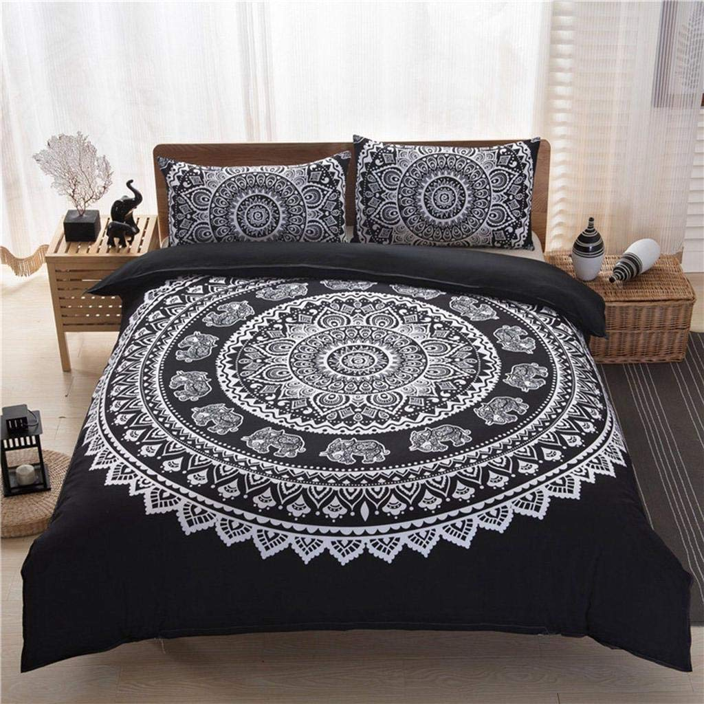 MTOFAGF Bohemian Indian Mandala Hippie King Size Pillowcases Quilt Cover Bedding Set Home Bedroom Decor MTOFAGF Brings You The Best