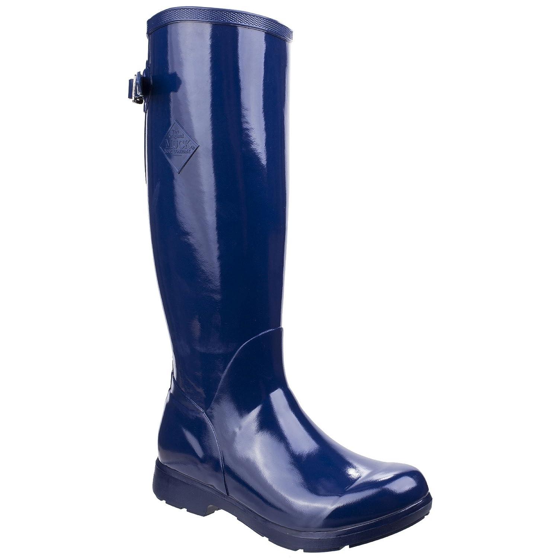 Muck Boot Womens/Ladies Bergen Tall Lightweight Rain Boots B07CQV8LRD 8 M US Navy