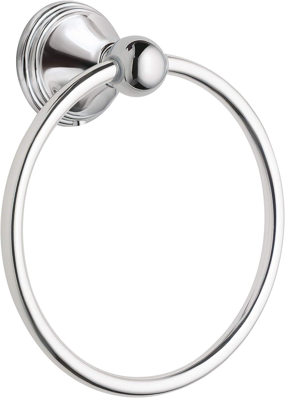 Moen DN8486CH Preston Collection Bathroom Hand Towel Ring, Polished Chrome - Chrome Towel Bar -