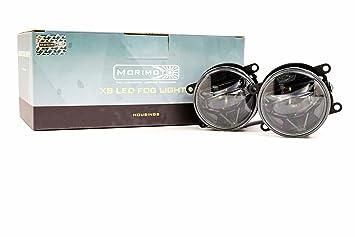 Universal 90mm Yellow Set Morimoto XB LED High Performance Projector Fog Lights