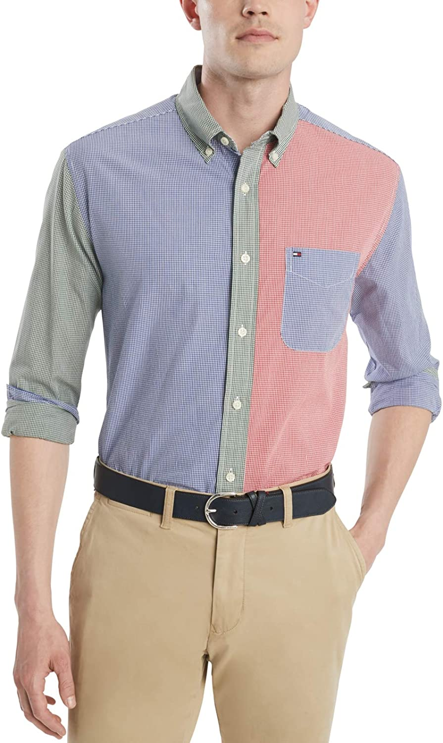 Tommy Hilfiger Men's Long Sleeve Button Down Shirt in Classic Fit