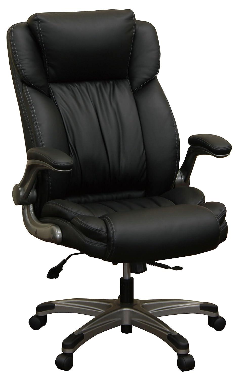 大商産業 オフィスチェア C-555 DB ダークブラウン PUレザー張り 座面ポケットコイル B074Q99ZFM C-555  C555