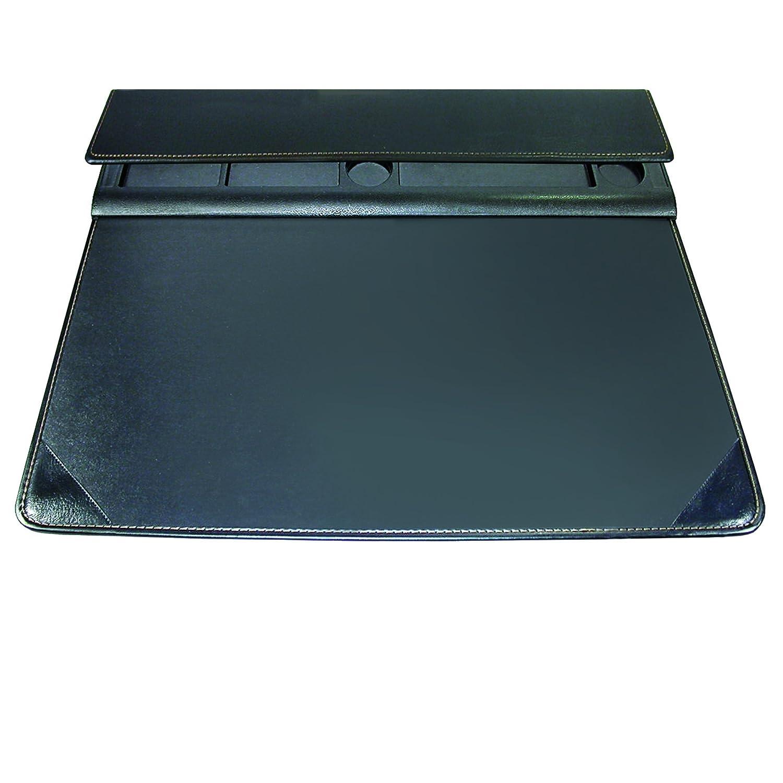 Artistic 17-Inch X 22-Inch Executive Desktop Organizer Desk Pad, Black 5166-3-1S
