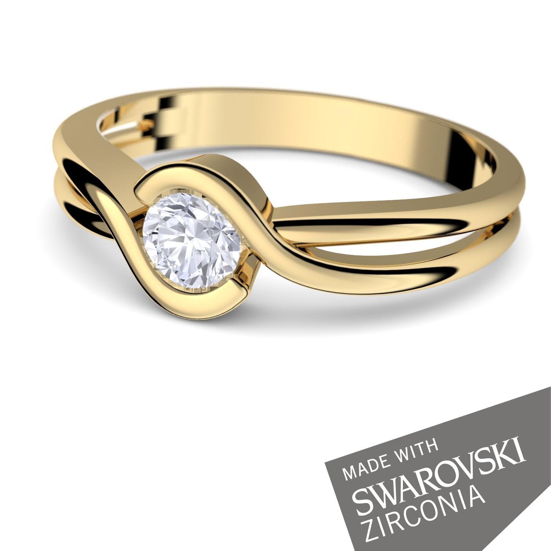 Gold Ring Verlobungsringe Gelbgold 333 echt Gold von AMOONIC mit