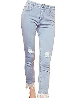 ecf7d43964cd84 Elf Sack Women Juniors Denim Shaping Skinny Jeans,Distressed Slim Fit  Stretchy Ankle Pants Leggings