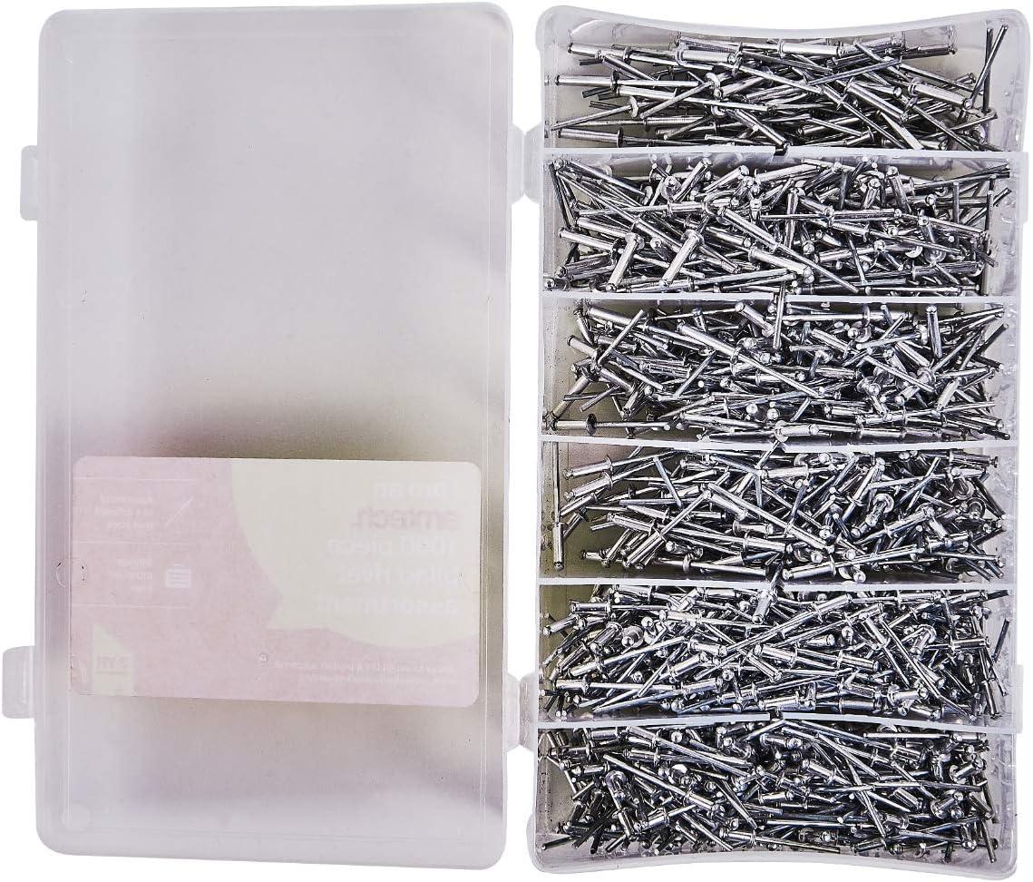 Am-Tech 1000 Piezas de remaches ciegos, S5105