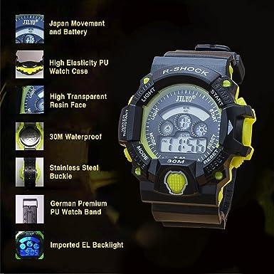 ... para niños,reloj para niños LED electrónico analógico Reloj despertador simple para niños y jóvenes Relojes digitales(Amarillo): Amazon.es: Relojes