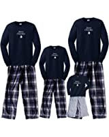 Merry Christmas White Tree Navy Family Adult Pajamas & Kids Playwear; Choose Adult or Kids