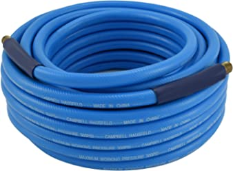Campbell Hausfeld PA121600AV Air Hose with Bend Restrictors, 50 Foot, 3/8 Inch