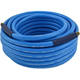 Air Hose with Bend Restrictors, 50 Foot, 3/8 Inch ID, PVC, Non-marring, 300 PSI (Campbell Hausfeld PA121600AV)