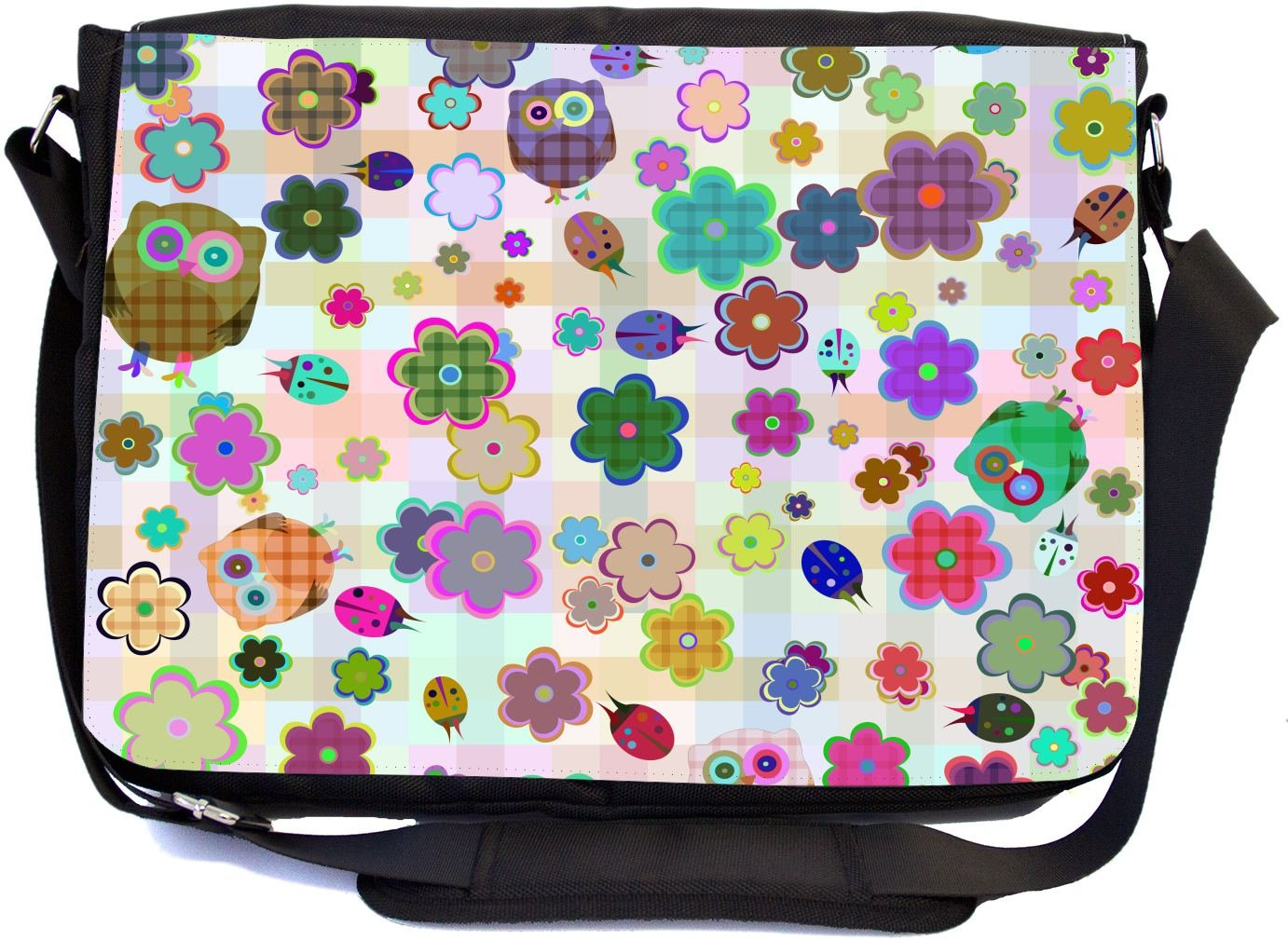 69e3220d51a5 hot sale Rikki Knight Cute Owl with Flowers Illustrated Seamless Design  Multifunctional Messenger Bag - School Bag ...