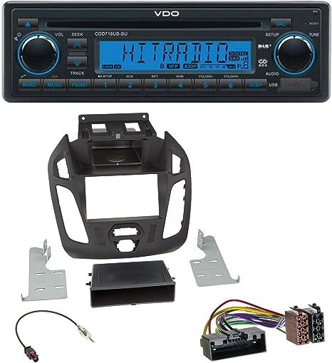 VDO CDD718UB-BU Autoradio CD//MP3 mit Bluetooth RDS-Tuner DAB USB AUX-IN
