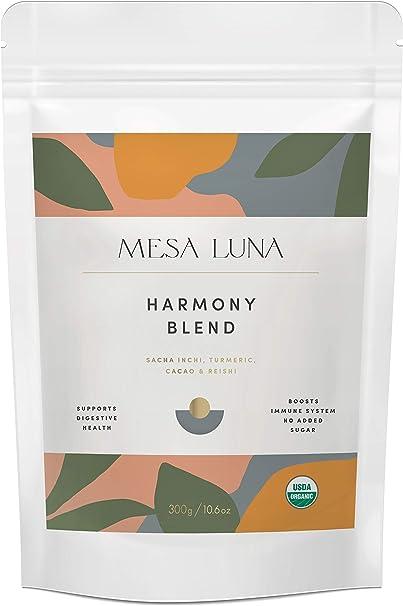 Mesa Luna Harmony Blend - Sacha Inchi, Turmeric, Cacao & Reishi Mushroom - 300g - USDA Organic - Non-GMO