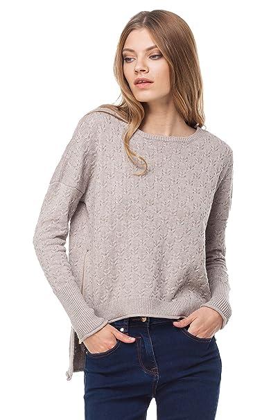 b6c4b5a253216 VILATTE Women s Long Sleeve Cable Knit Pullover Sweater (4XL(22 ...