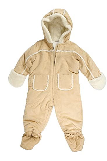ebb6e640b Image Unavailable. Image not available for. Color: First Impressions Baby  Boys Faux Suede Snowsuit with Faux Fur Trim (18 Months)