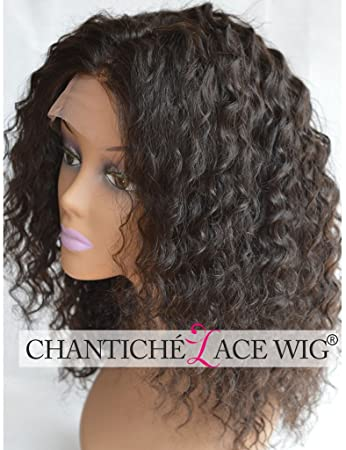 9ac70ce8f Chantiche Brazilian Curly Lace Front or Full Lace Wig 100 Remy Human Hair  Wigs For African