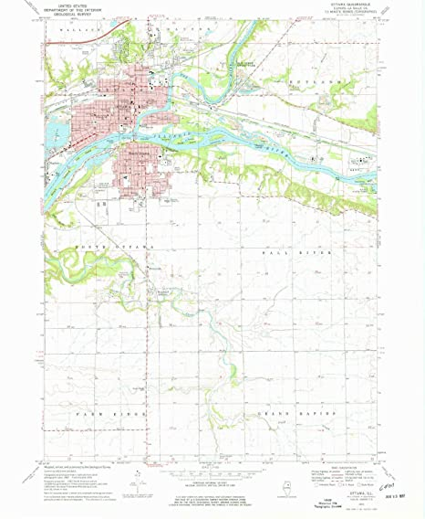 Amazon Com Yellowmaps Ottawa Il Topo Map 1 24000 Scale 7 5 X 7 5