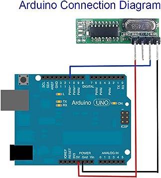 HDHUA 433Mhz Superheterodino RF Receptor Y Módulo Transmisor ...