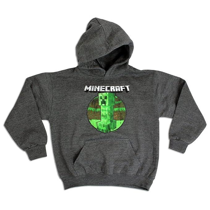 Minecraft - Sudadera con capucha - para niño Gris gris: Amazon.es: Ropa y accesorios