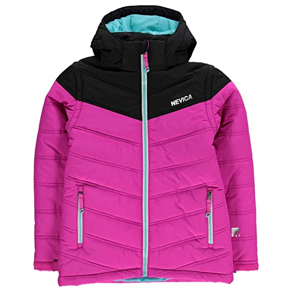 d7114ba26c Nevica Kids Girls Bubble Jacket Junior Ski Coat Top Long Sleeve Hooded Zip  Full Pink 9