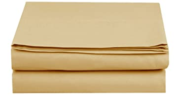 amazon king gold luxury flat sheet elegant comfort wrinkle