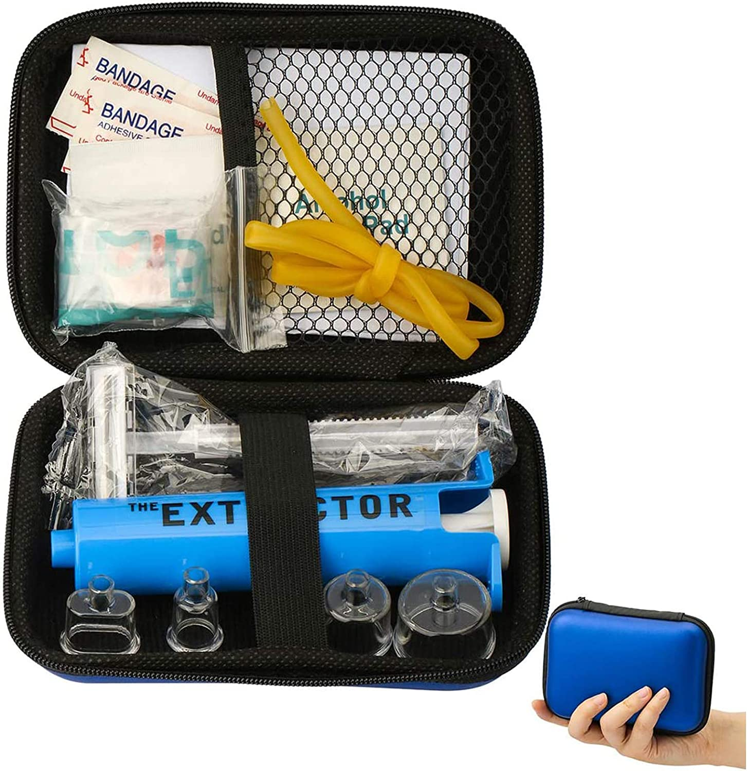 Snake Bite Kit Bee Sting Emergency Camping First Aid Supplies Venom Extractor