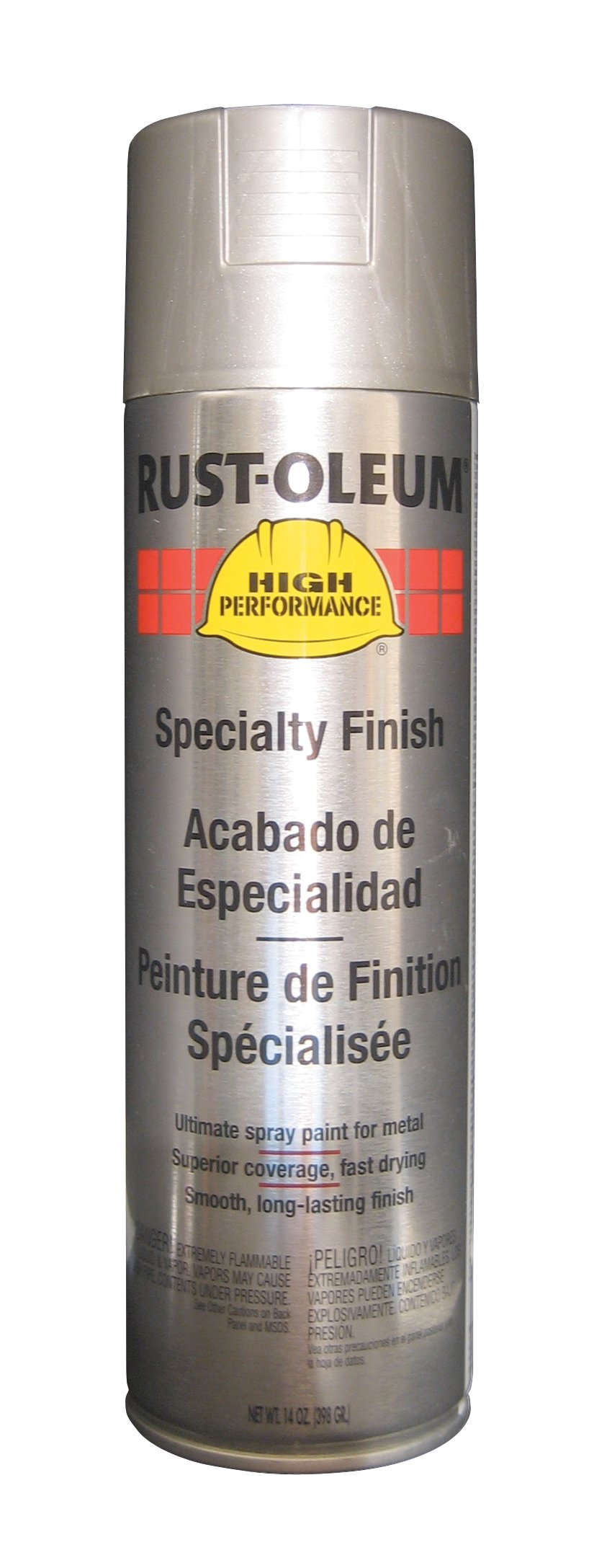 Rust-Oleum V2119838 High Performance V2100 System Rust Preventive Enamel Spray Paint,  20 fl. oz. container, 15 oz. fill,, Stainless Steel, 6-Pack