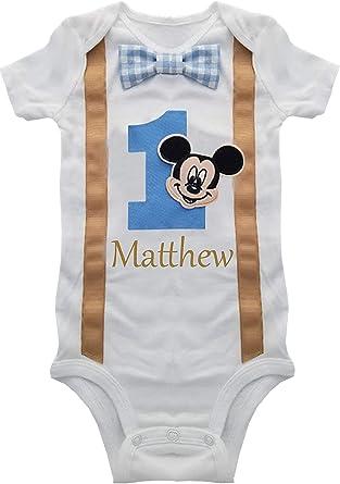 Personalised My First 1st Birthday Baby Kids Body Suit Vest Boy longvsleeve G