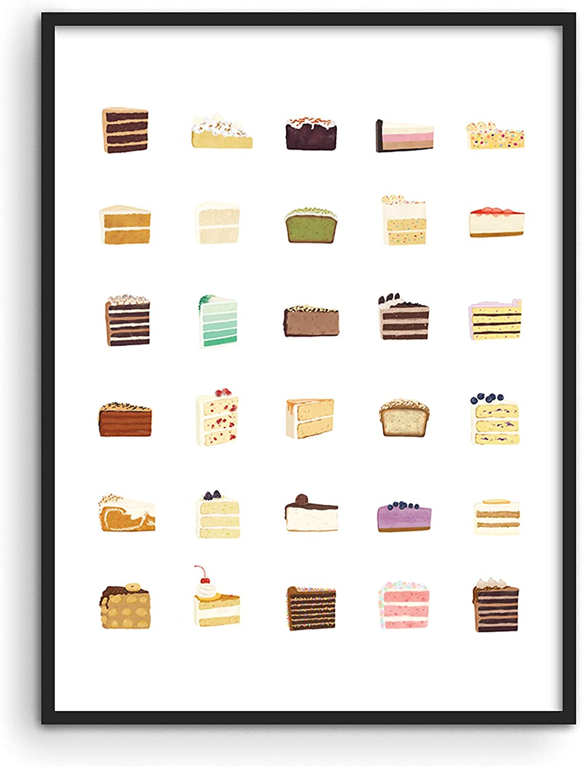 """Pieces of Cake Kitchen Wall Art - By Haus and Hues 