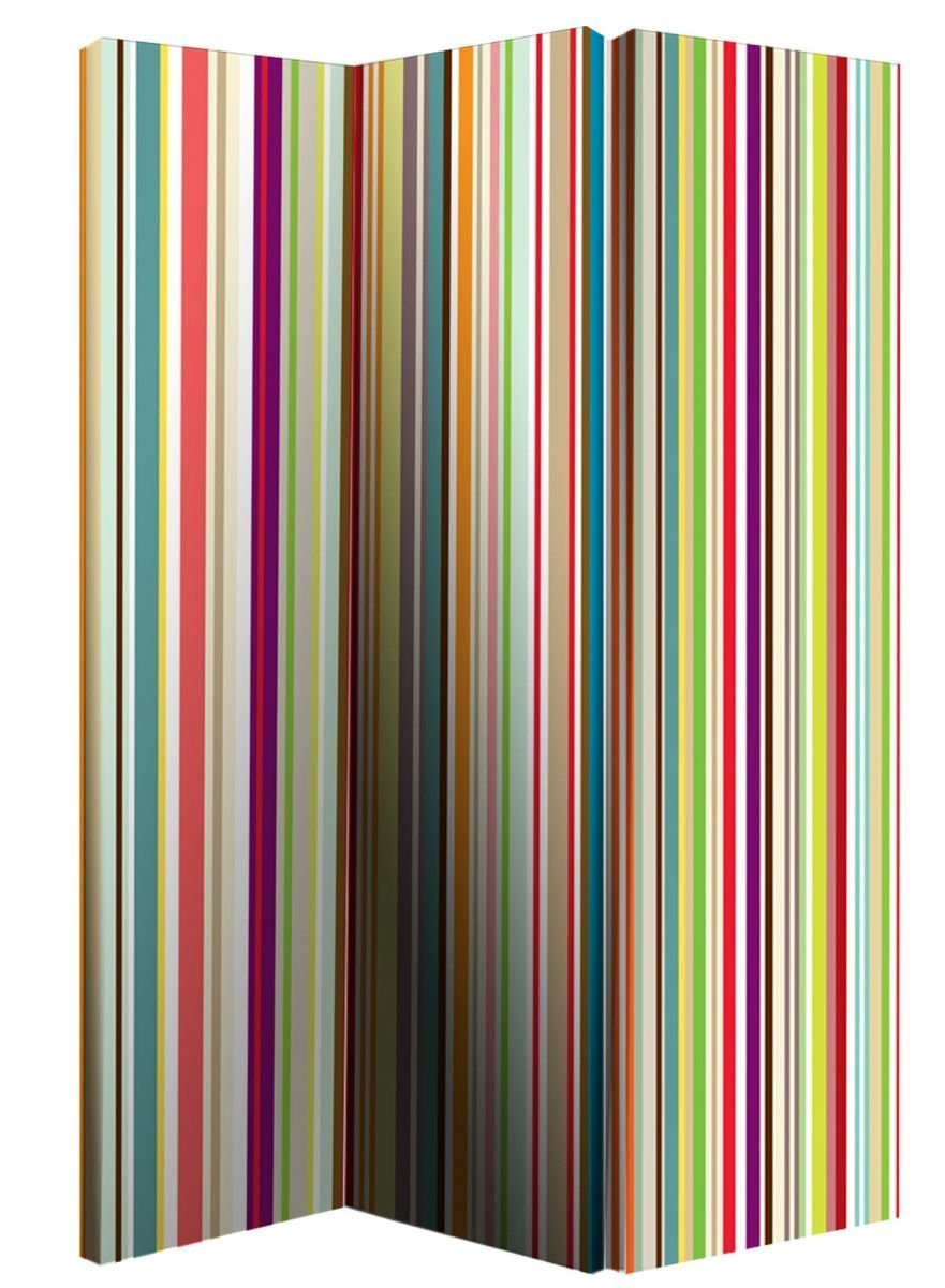 Arthouse Bright Stripes Screen, Polyester, Multi-Colour, 150 x 120 x 2.5 cm 008107