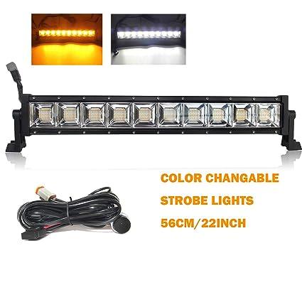 Amazon Com Led Light Bar Strobe Lights 22 Inch Led Light