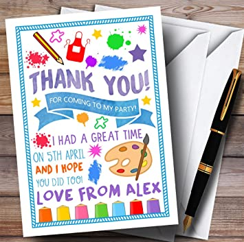 Amazon Painting Arts Craft Party Thank You Cards Office