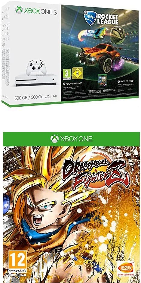 Xbox One S - Consola 500 GB + Rocket League + Dragon Ball FighterZ ...